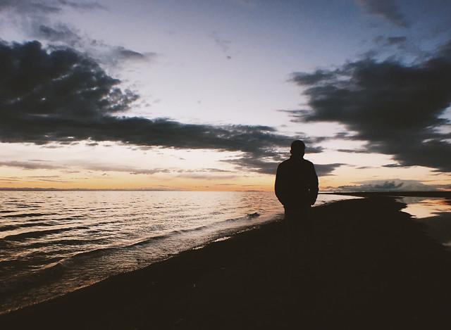 sunset-beach-water-sea-ocean picture material