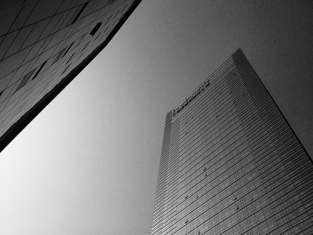 monochrome-city-architecture-office-black-white picture material