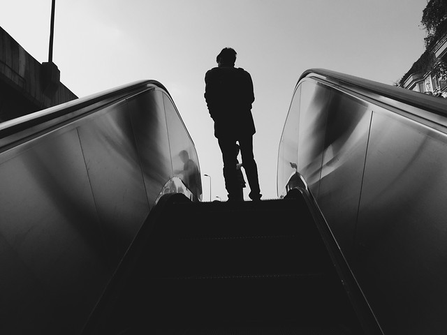 people-man-silhouette-street-black picture material