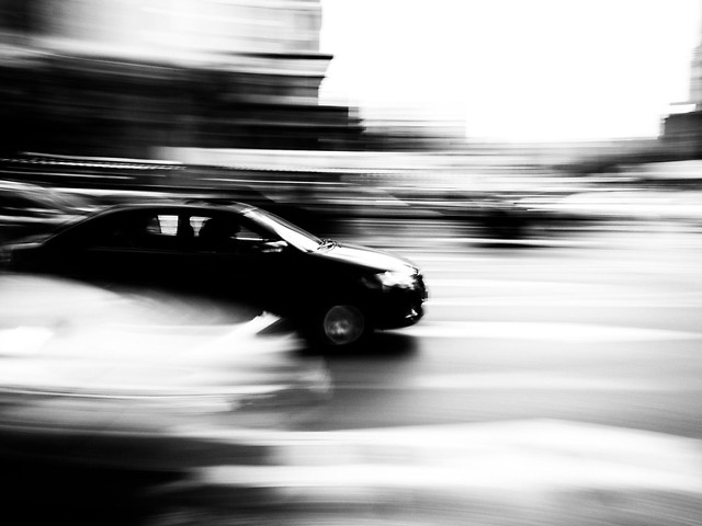 blur-car-transportation-system-monochrome-motion picture material