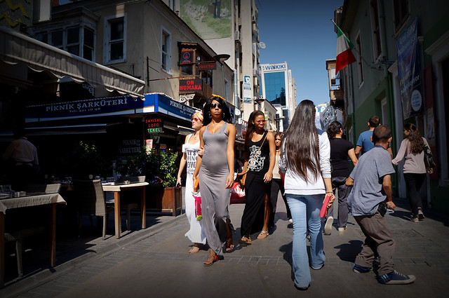 people-street-city-group-road picture material