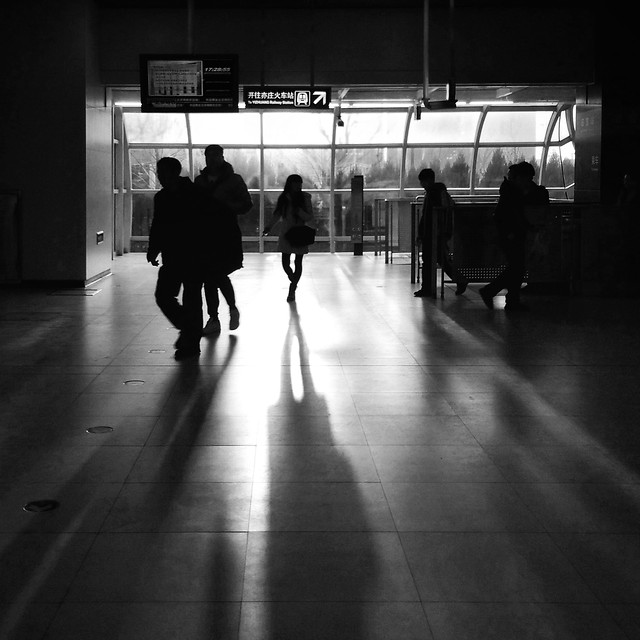 monochrome-subway-system-street-airport-people picture material