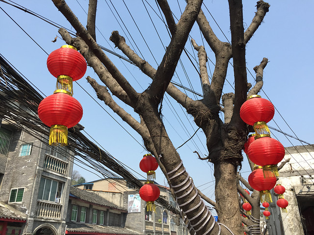 traditional-lantern-festival-sky-street picture material
