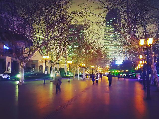 city-light-street-evening-urban 图片素材