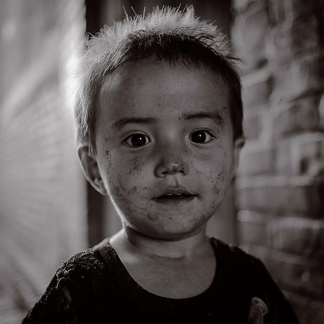 people-portrait-child-monochrome-one 图片素材