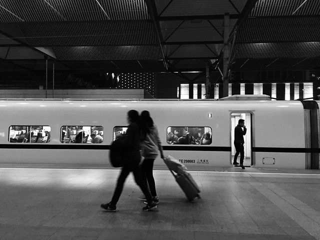 subway-system-people-airport-white-black picture material