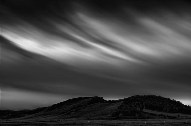 sunset-landscape-storm-sky-desert picture material