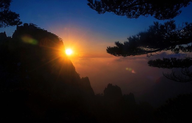 sunset-dawn-sun-landscape-evening 图片素材