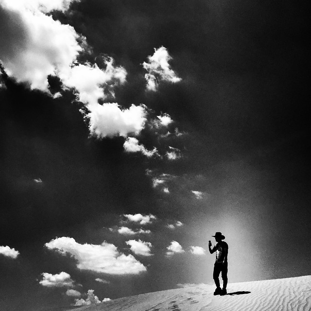 monochrome-people-sky-cloud-silhouette picture material