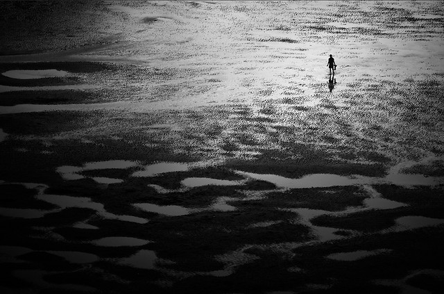 people-beach-no-person-water-monochrome 图片素材