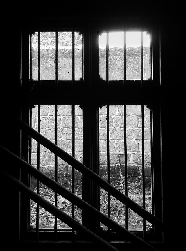 window-monochrome-reflection-shadow-dark picture material