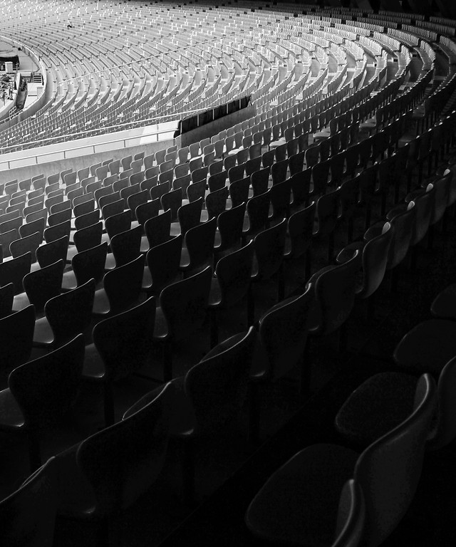 audience-stadium-auditorium-people-monochrome picture material