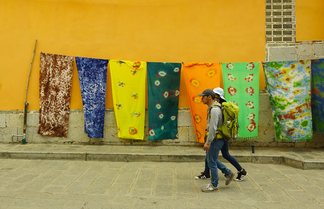 people-street-wall-yellow-wear picture material