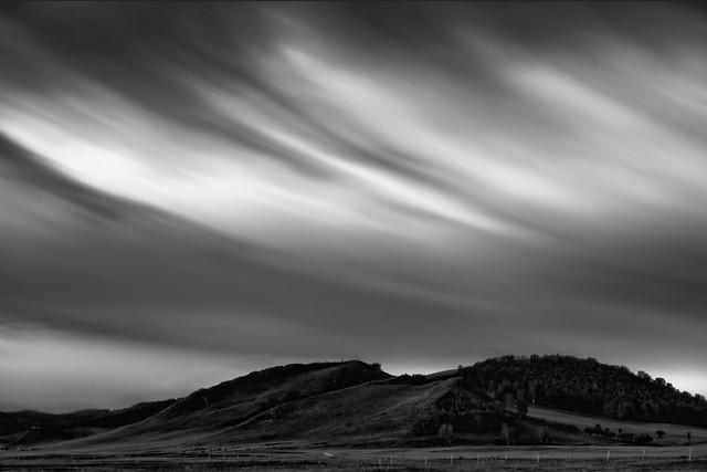 landscape-sunset-storm-sky-desert picture material
