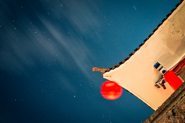 no-person-sky-blue-red-moon picture material