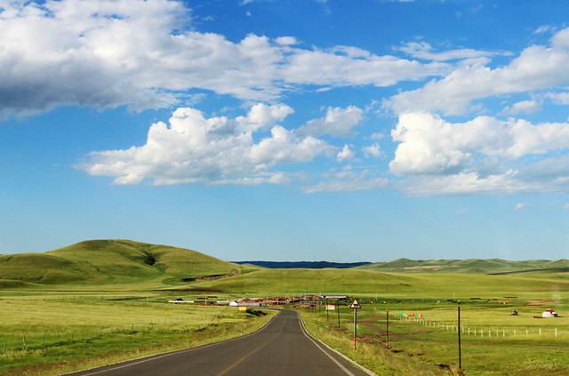 landscape-no-person-sky-road-rural picture material
