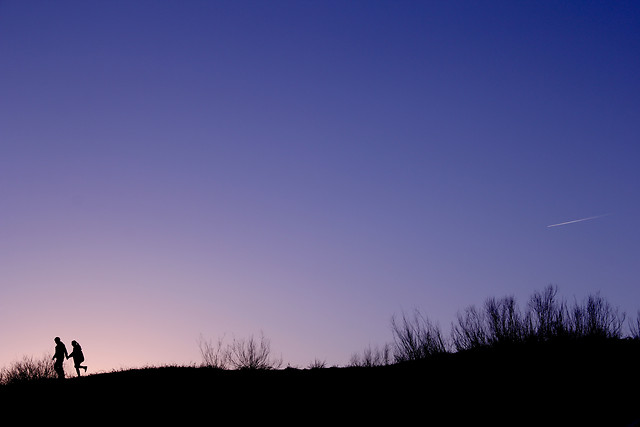 sunset-dawn-landscape-silhouette-sky picture material
