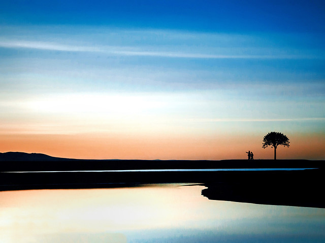 sunset-dawn-no-person-dusk-water picture material