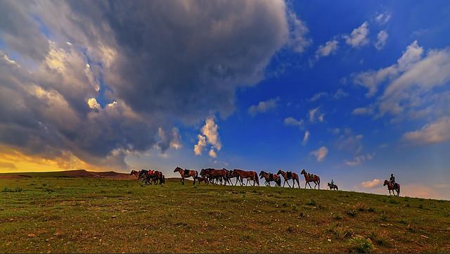 no-person-sky-agriculture-grassland-cloud 图片素材