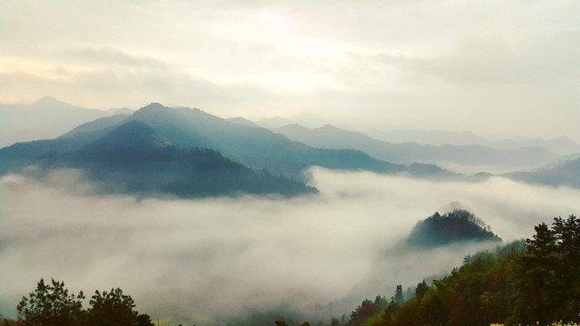 fog-mountain-landscape-mist-no-person picture material