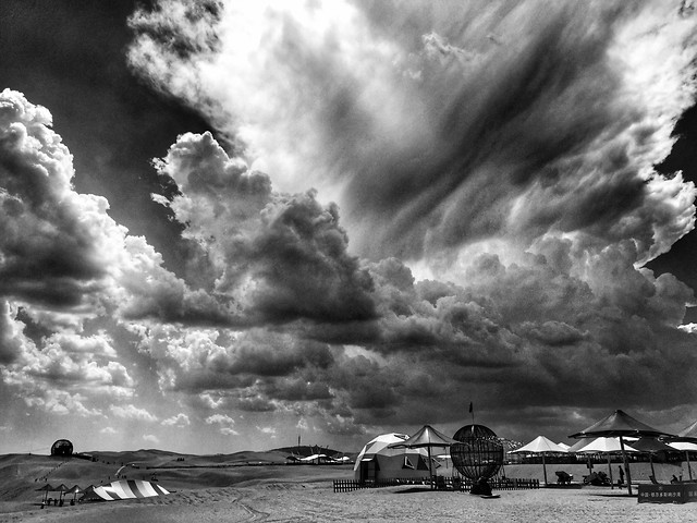 storm-sky-landscape-cloud-monochrome picture material
