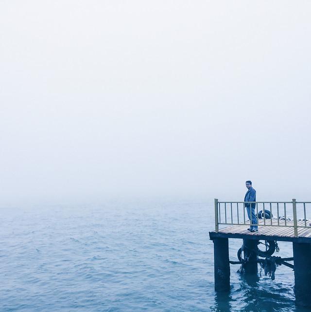 water-sea-ocean-pier-fog picture material