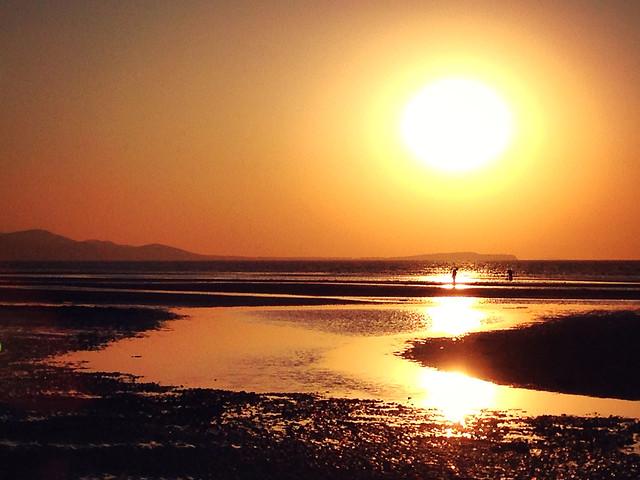 sunset-dawn-water-sun-evening 图片素材