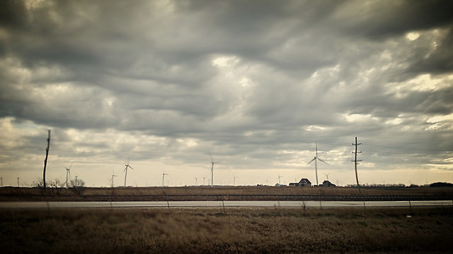 electricity-energy-windmill-grinder-landscape picture material