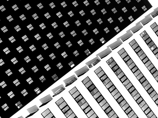 business-modern-technology-architecture-black-white picture material