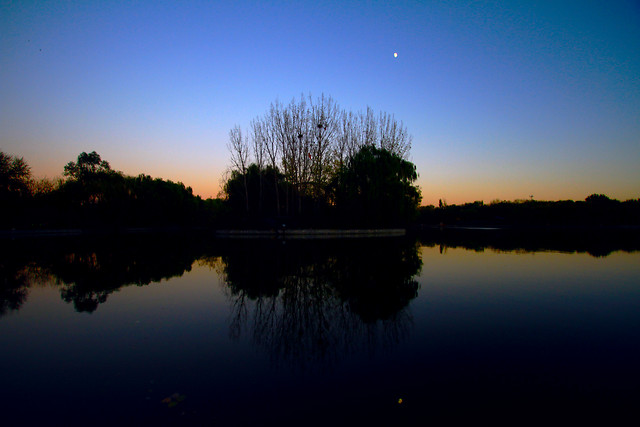 reflection-dawn-lake-sunset-water picture material