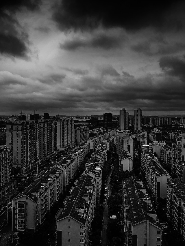 monochrome-no-person-cityscape-city-sky picture material