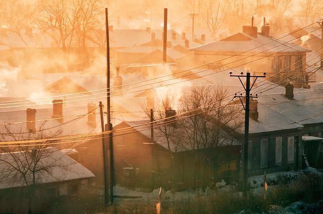 dawn-smoke-fog-winter-light picture material