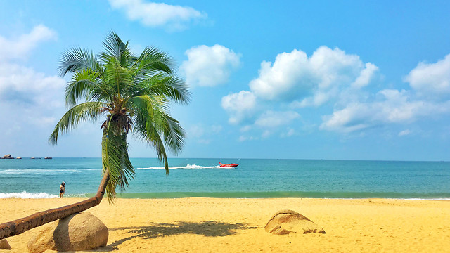 sand-tropical-beach-idyllic-travel 图片素材