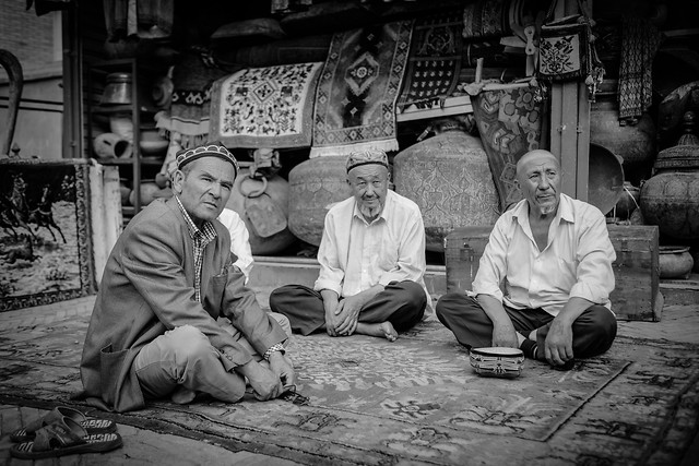 people-adult-group-man-street picture material