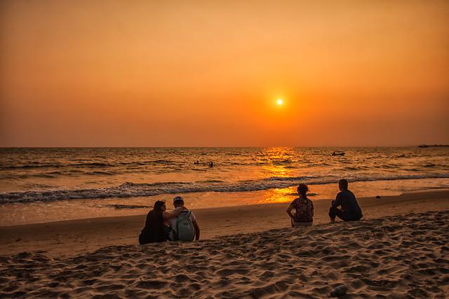sunset-beach-sun-dawn-water 图片素材