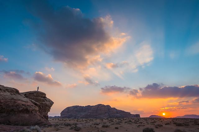 sunset-landscape-sky-dawn-desert picture material