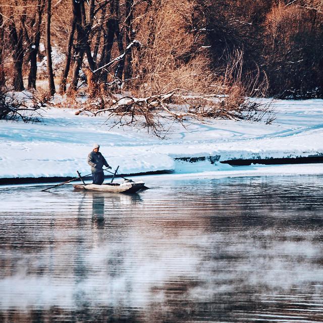 water-canoe-recreation-kayak-reflection 图片素材