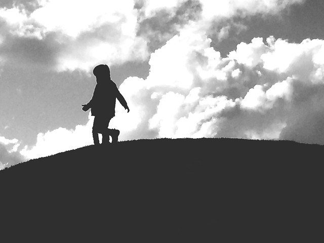 people-silhouette-monochrome-sky-cloud picture material