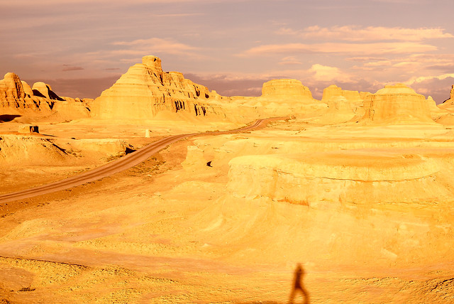 sunset-landscape-desert-dawn-badlands 图片素材