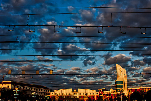 city-sky-urban-architecture-cloud picture material