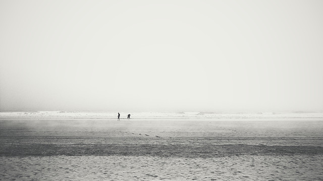 people-sea-beach-fog-water picture material