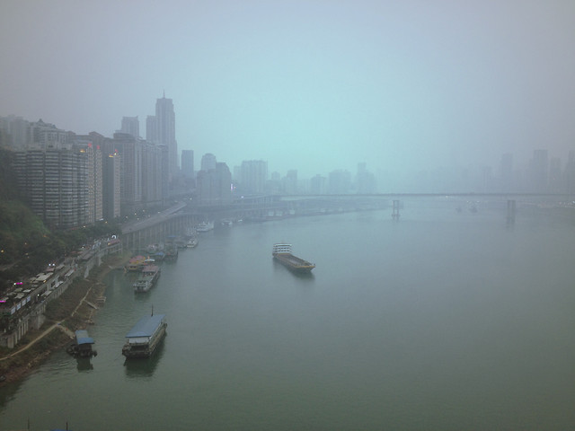 water-city-fog-river-travel 图片素材
