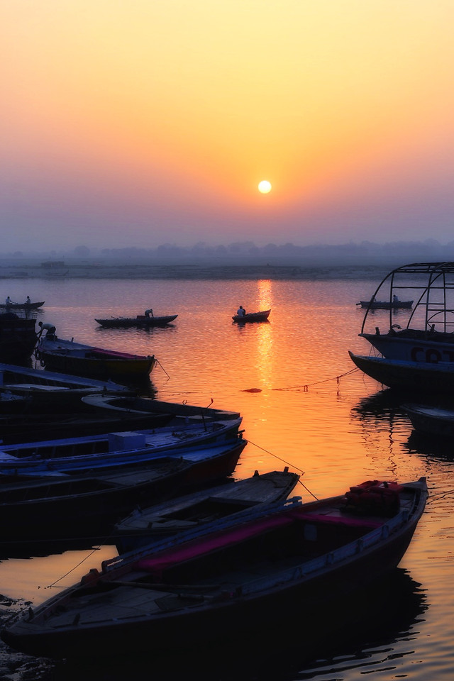 water-sunset-boat-dawn-watercraft picture material