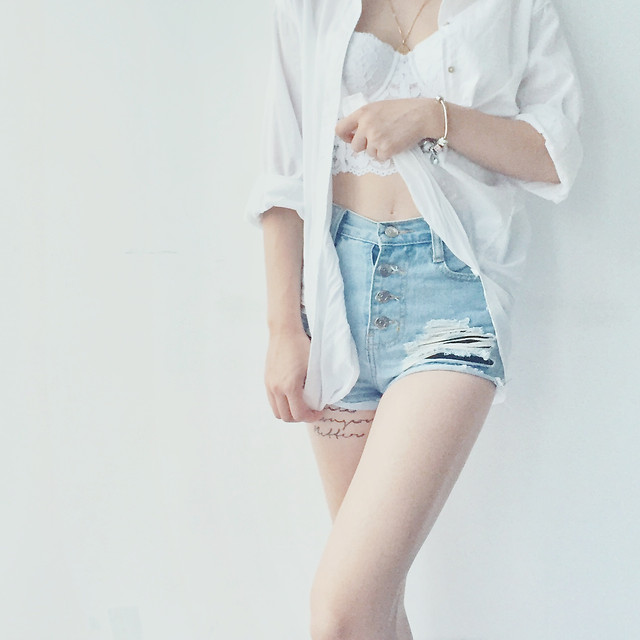 woman-young-pretty-white-clothing picture material