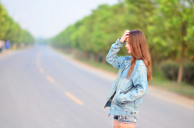 road-girl-woman-nature-outdoors picture material