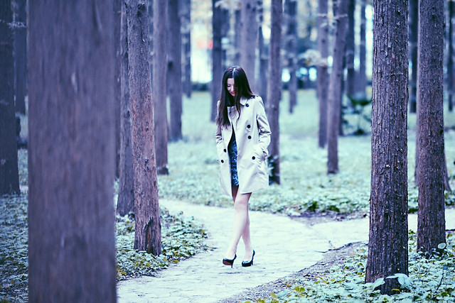 girl-street-wood-people-fall picture material