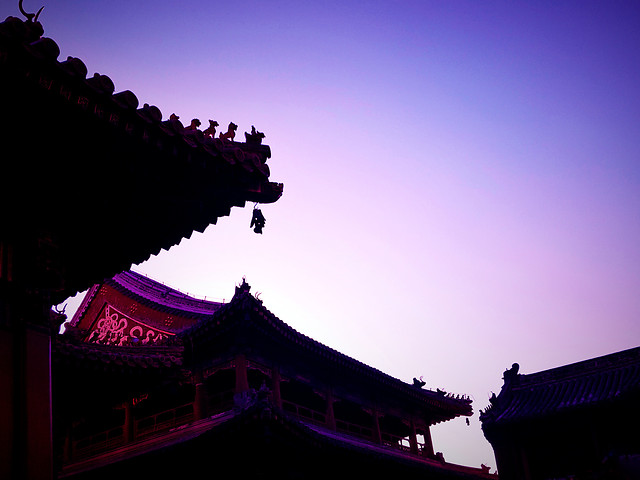 sky-chinese-architecture-no-person-sunset-architecture picture material