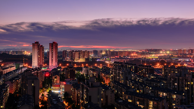 city-metropolitan-area-cityscape-architecture-sunset 图片素材