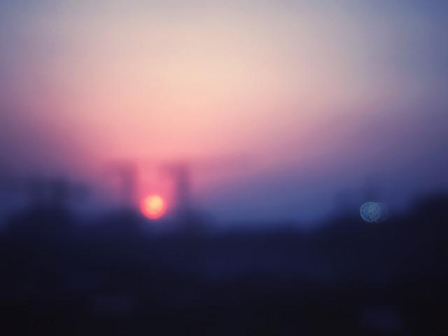 blur-moon-sunset-sky-sun picture material