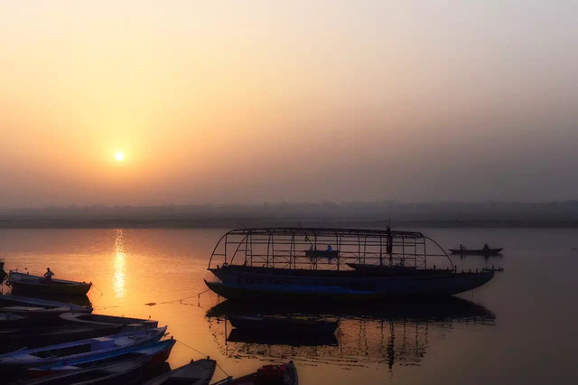 sunset-water-dawn-sea-watercraft picture material